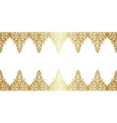 Gold floral borler vector image