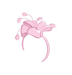 realistic hair band with a lush flower or bow vector image