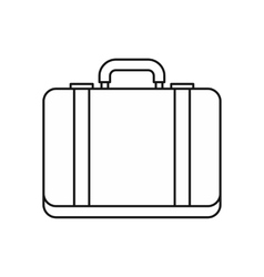 Suitcase icon in outline style vector image vector image