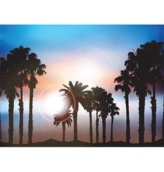 Summer palm tree landscape vector image vector image