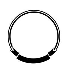 label banner ribbon empty decoration symbol vector image