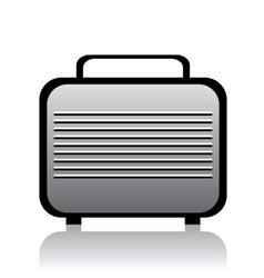 Metal briefcase vector