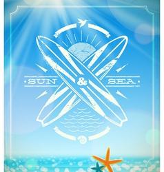 Surfing grunge vintage emblem vector image