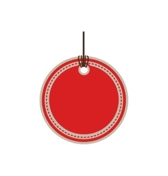 color price tag with round shape vector image vector image