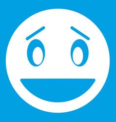 confused emoticon white vector image