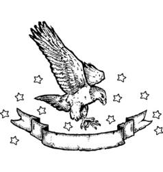 eagle illustration vector image vector image