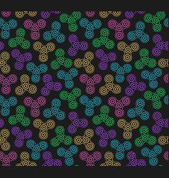 hand spinners seamless pattern on vector image