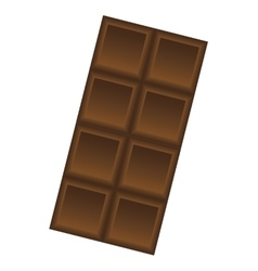 sweet chocolate bar isolated icon vector image