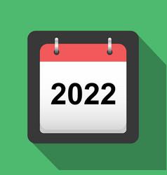 2022 calendar flat icon title page of calendar vector