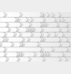 Abstract grey tech paper background with arrows vector