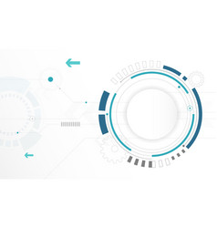 Abstract white circle digital technology vector