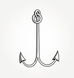 Anchor line icon symbol art variable line vector image
