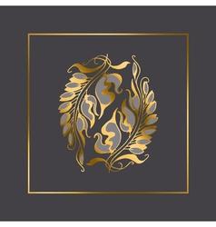 Art Nouveau style element vector