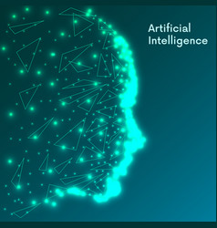 artificial intelligence concept futuristic human vector image