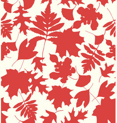 Autumn leaves silhouettes rosewood vector