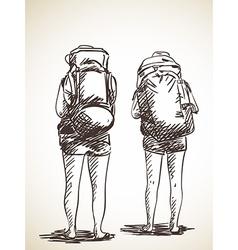 backpacker vector image