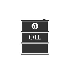 barrel oil icon isolated flat design vector image