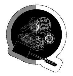 bbq grill delicious food vector image