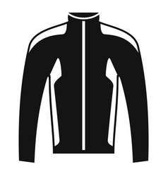 bike jacket icon simple style vector image