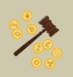 Bit coin crypto currency legal aspect regulation vector