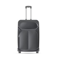 Black journey valise vector image