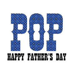 blue bandana pop fathers day vector image