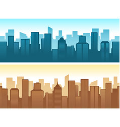 buildings flat cityscape vector image