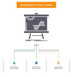 Business chart data graph stats business flow vector