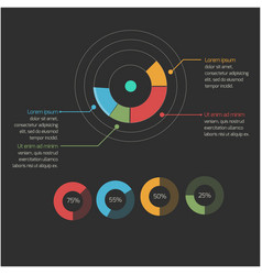 business circle infographics image vector image