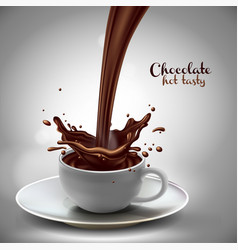 chocolate advertising design high detailed vector image
