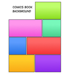 comic book halftone background vector image