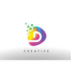 D colorful logo design shape purple abstract vector
