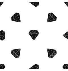 diamond pattern seamless black vector image