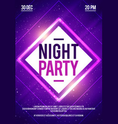 dj dance poster design disco night party vector image