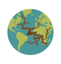 Earth icon Planet design graphic vector image