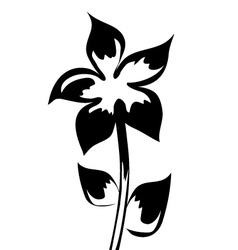 element for design silhouette flower vector image