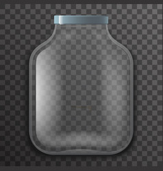 empty glass pot jar sign transparent background vector image