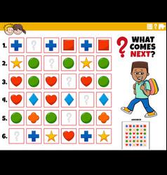 Fill pattern educational task for kids vector