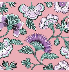 Floral seamlessl pattern ornamental backdrop vector