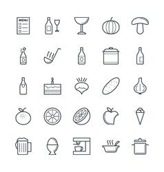 Food Cool Icons 5 vector