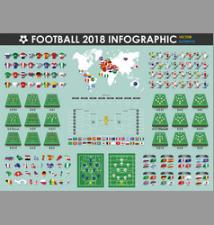 football or soccer cup infographic elements vector image