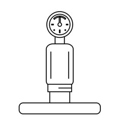 gauge and pipe icon image vector image