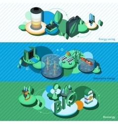 Green Energy Isometric Banners vector image vector image