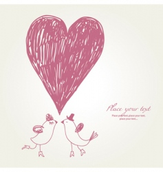 Greeting card hand drawn vector