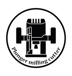 Icon of plunger milling cutter vector image