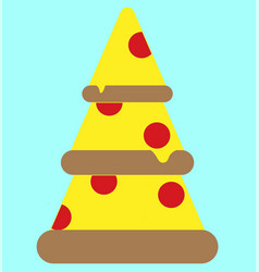 icon three pieces of pizza vector image