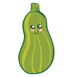 Image cute zucchini or color vector