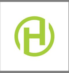 initials h circle logo abstract vector image