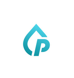 letter p water drop logo icon design template vector image