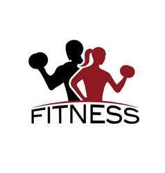 Man and woman fitness silhouette character vector